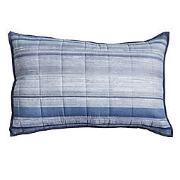 Canadian Living Geometric Striped Pillow Sham in Blue