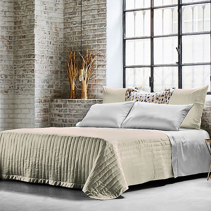 Alternate image 1 for Frette At Home Vertical Queen Coverlet in Ivory