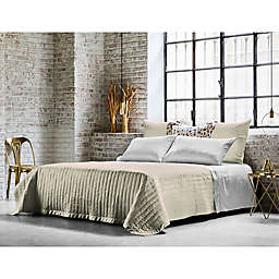 Frette At Home Vertical King Coverlet in Ivory