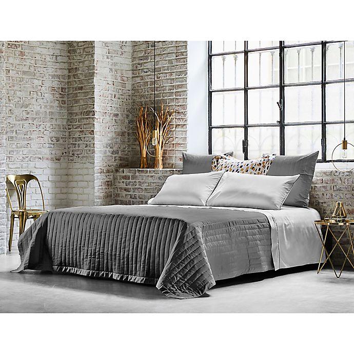 Alternate image 1 for Frette At Home Vertical King Coverlet in Grey