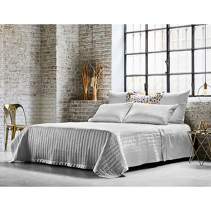 Alternate image 1 for Frette At Home Vertical King Coverlet in White