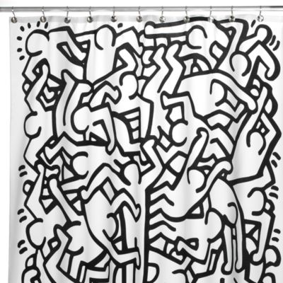 Keith Haring 72 Inch X Shower Curtain