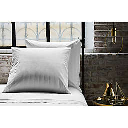 Frette At Home Vertical European Pillow Sham in Stone
