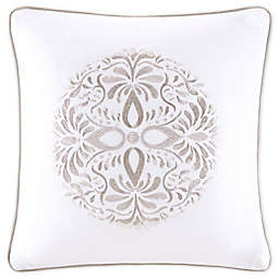 Bridge Street Medallion Matelasse Square Throw Pillow