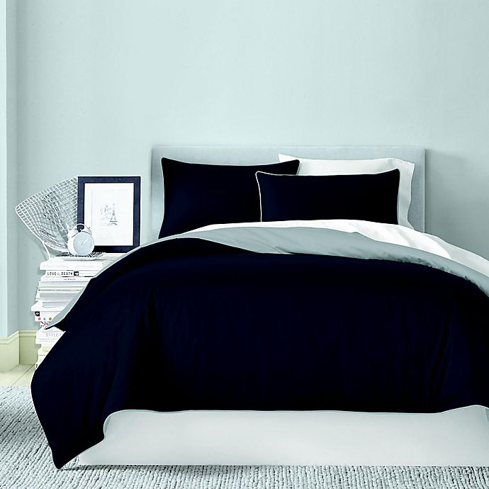 Alternate image 1 for Canadian Living Solid 250-Thread-Count Reversible Duvet Cover