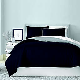 Canadian Living Solid 250-Thread-Count Reversible King Duvet Cover in Charcoal