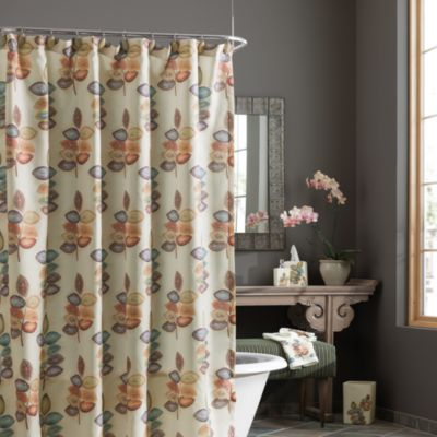 Croscill Mosaic Leaves Fabric Shower Curtain Bed Bath Beyond