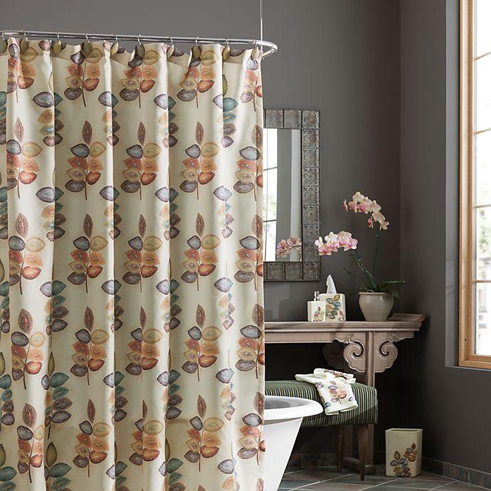 CroscillR Mosaic Leaves Fabric Shower Curtain