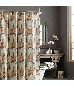 Cortina de tela para baño Croscill® Mosaic Leaves, 1.77 x 1.82 m