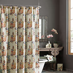 Croscill® Mosaic Leaves Fabric Shower Curtain