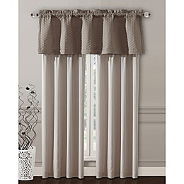 Janella 84-Inch Rod Pocket Window Curtain Panel Pair in Taupe