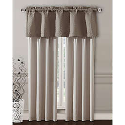 Janella 2-Pack 84-Inch Rod Pocket Window Curtain in Taupe