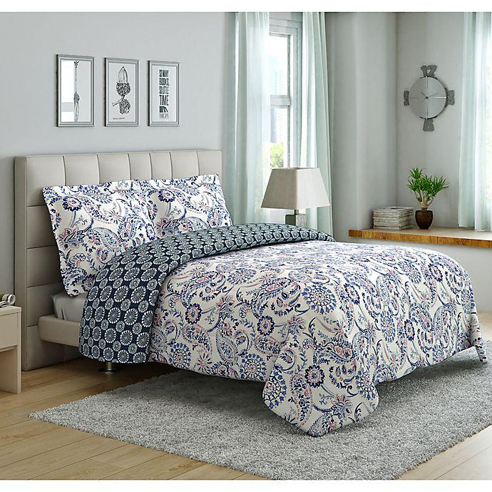 Peach Amp Oak Mindy Reversible Comforter Set Bed Bath Amp Beyond