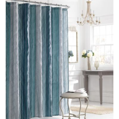 Manor Hill 174 Sierra Shower Curtain In Blue Bed Bath And