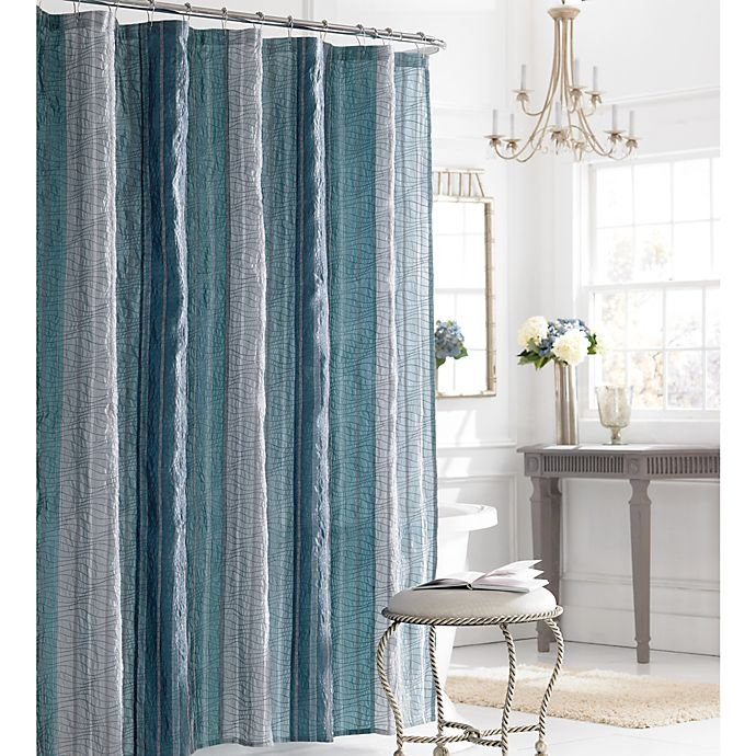 Alternate image 1 for Manor Hill® Sierra 72-Inch x 84-Inch Shower Curtain in Blue
