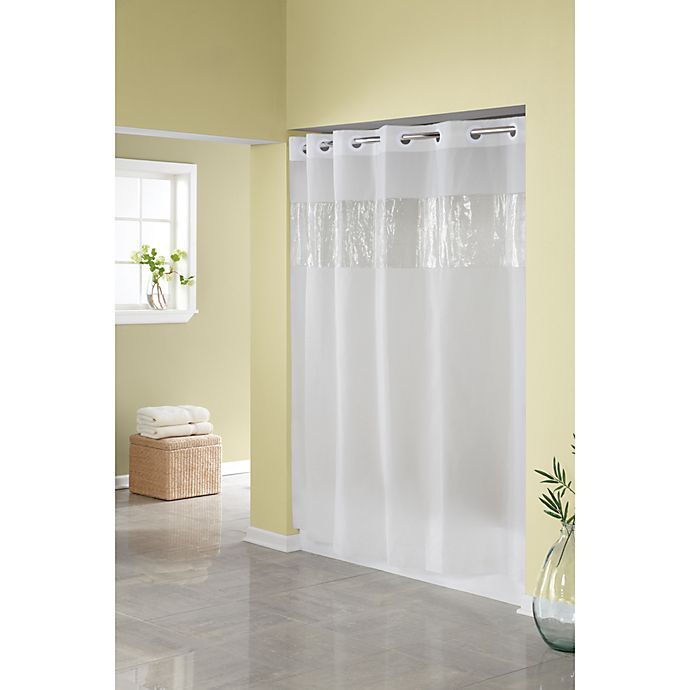 Alternate image 1 for Hookless® Frost 71-Inch W x 74-Inch L Shower Curtain