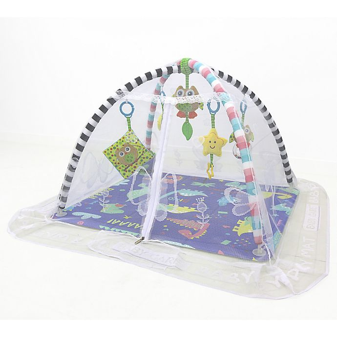 Alternate image 1 for BABY CARE™ Dinosaur Activity Gym in Blue