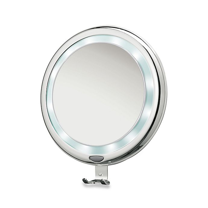 Brookstone 9 Inch Lighted Fogless Shower Mirror