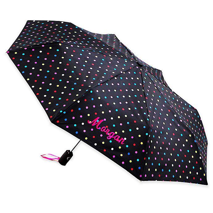 039c21181 totes® Polka Dot Umbrella in Black | Bed Bath & Beyond