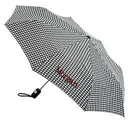 totes® Houndstooth Umbrella in Grey