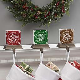 Snowflake Personalized Stocking Holder