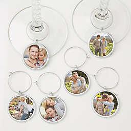 Personalized Photo 6-Piece Wine Charm Set