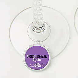 Bachelorette Personalized Wine Charm
