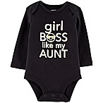"carter's® Size 6M ""Girl Boss Like My Aunt"" Bodysuit in Black"