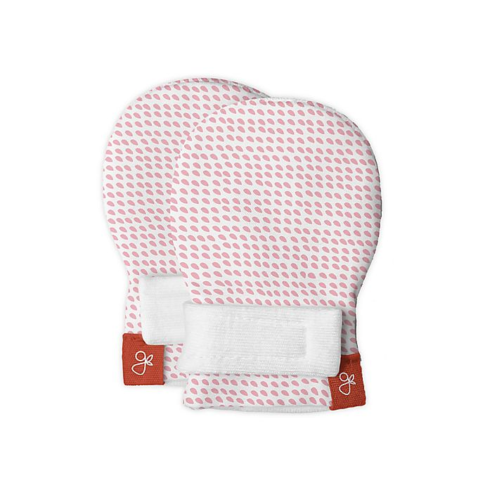 Alternate image 1 for goumi® Drops Preemie Mitts in Pink