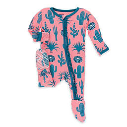 Kickee Pants® Strawberry Cactus Ruffle Footie in Pink