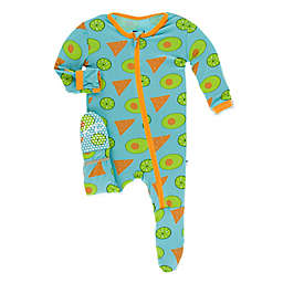 KicKee Pants® Avocado Chip Lime Footie in Blue
