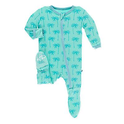 KicKee Pants® Glass Palm Tree Footie in Blue
