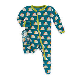 Kickee Pants® Seagrass Taco Footie in Blue