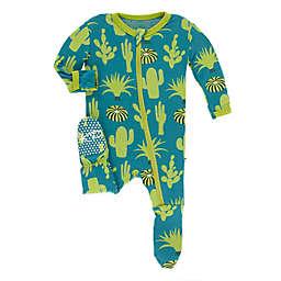 KicKee Pants® Seagrass Cactus Footie in Blue