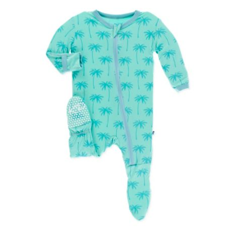 620aba145c5c KicKee Pants® Glass Palm Tree Footie in Blue