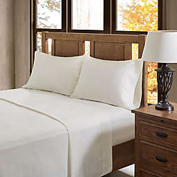 True North Solid Flannel California King Sheet Set in Ivory