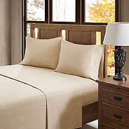 True North Solid Flannel King Sheet Set in Tan