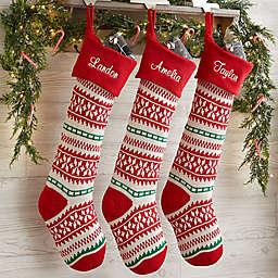 Holiday Sweater Personalized Jumbo Knit Christmas Stockings