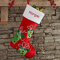 Festive Present Personalized Christmas Stocking