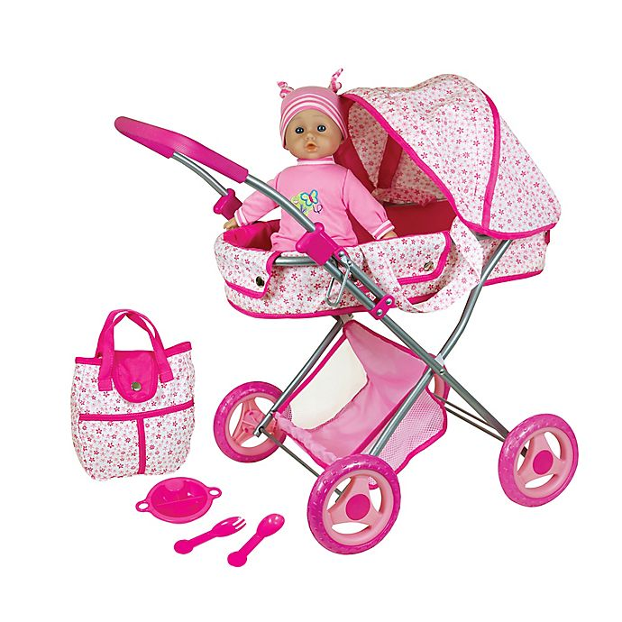 Alternate image 1 for Lissi Doll Pram and 13-Inch Baby Doll and Accessories