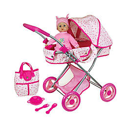 Lissi Doll Pram and 13-Inch Baby Doll and Accessories