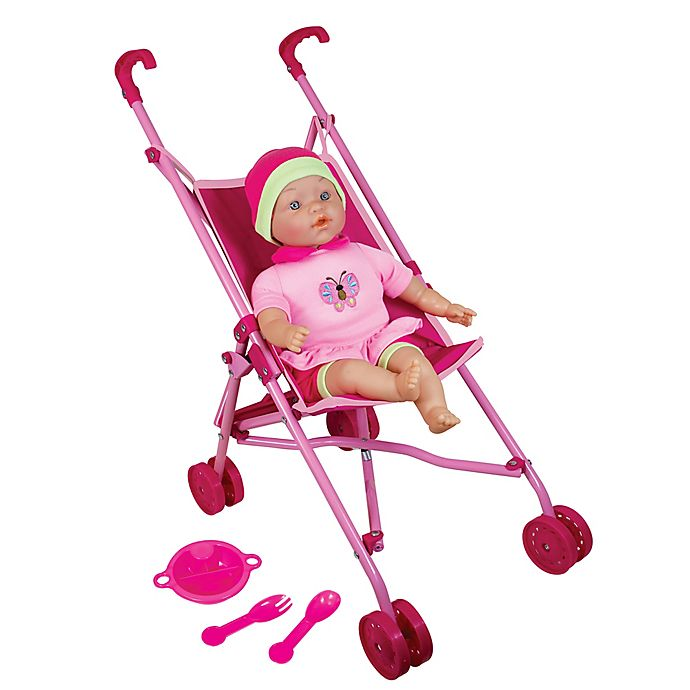 Alternate image 1 for Lissi Doll Umbrella Stroller Set with 16-Inch Baby Doll