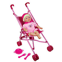 Lissi Doll Umbrella Stroller Set with 16-Inch Baby Doll