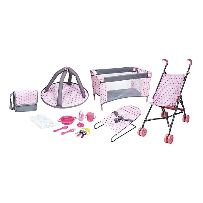 Alternate image 1 for Lissi 13-Piece Baby Doll Accessory Play Set