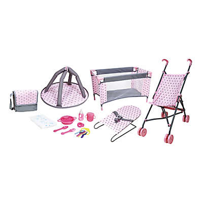 Lissi 13-Piece Baby Doll Accessory Play Set