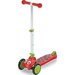 Scootie Bug 3-Wheel Lady Bug Folding Scooter in Red