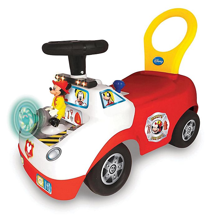 Alternate image 1 for Disney® Mickey Mouse Fire Truck Light and Sound Ride-On