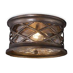 ELK Lighting Barrington Gate 2-Light Outdoor Flush Mount in Hazelnut Bronze