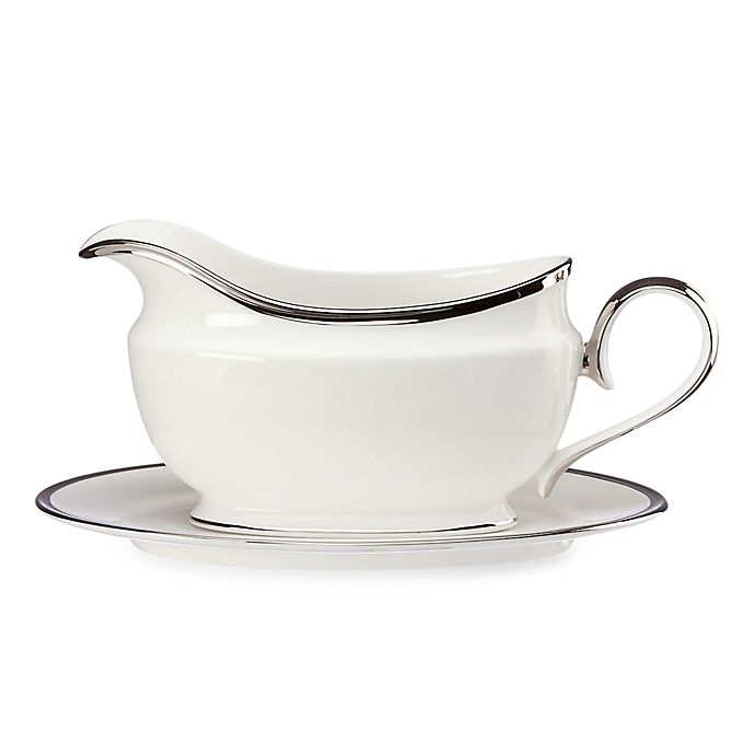 Alternate image 1 for Lenox® Solitaire™ White Gravy Boat and Stand