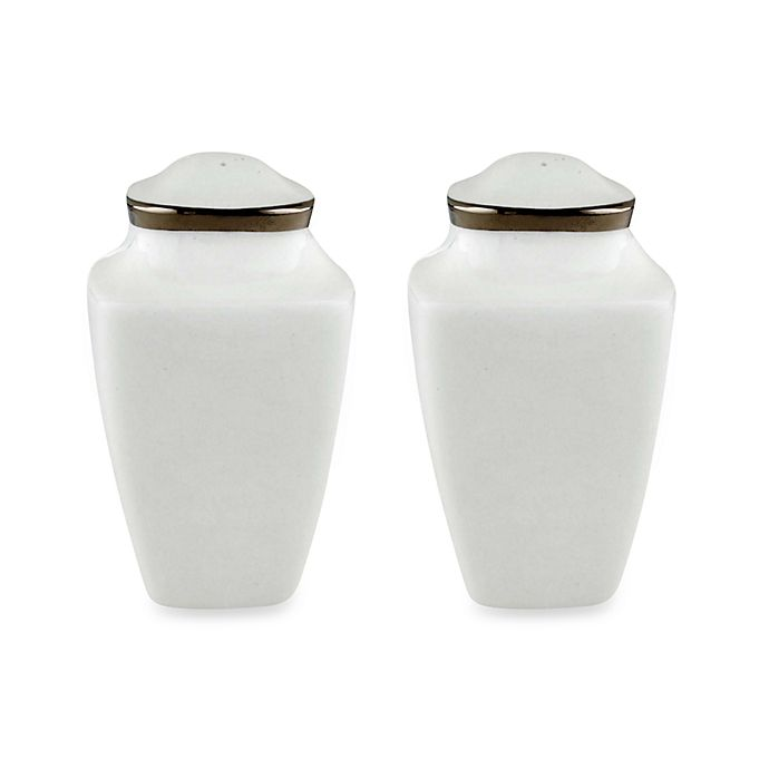 Alternate image 1 for Lenox® Solitaire™  White Square Salt and Pepper Shakers